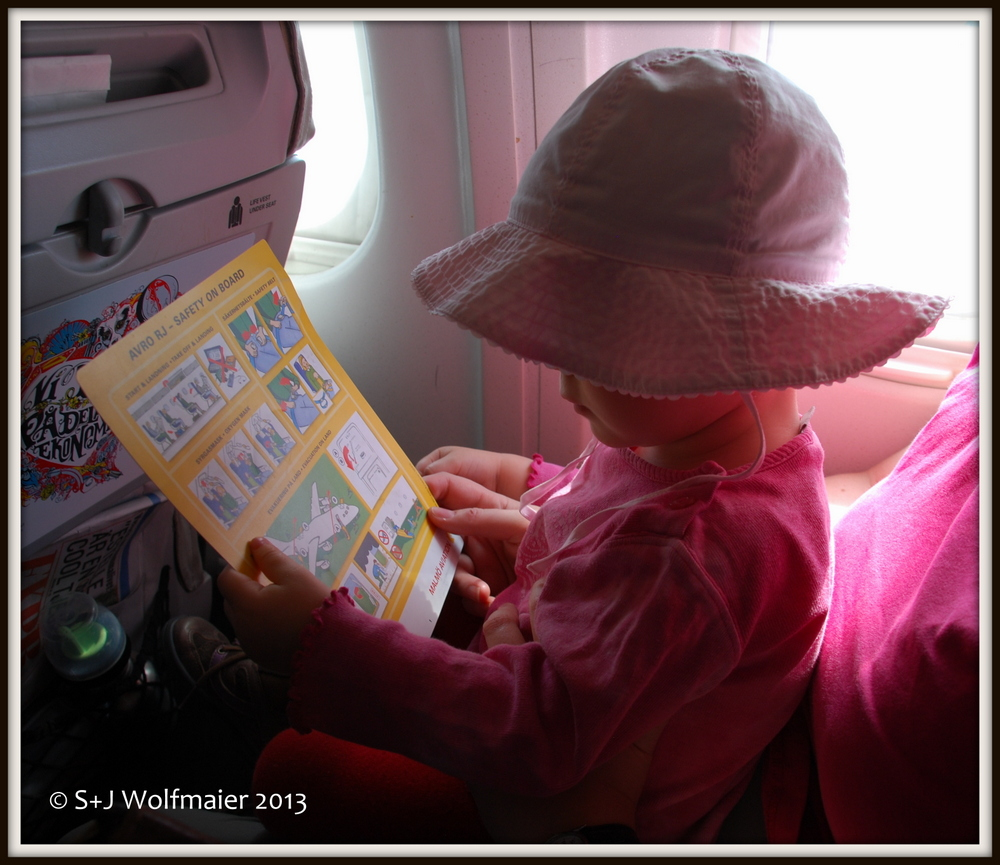 By middle of May we flew down again, our daughter taking all the precautions one has to take on a plane.
