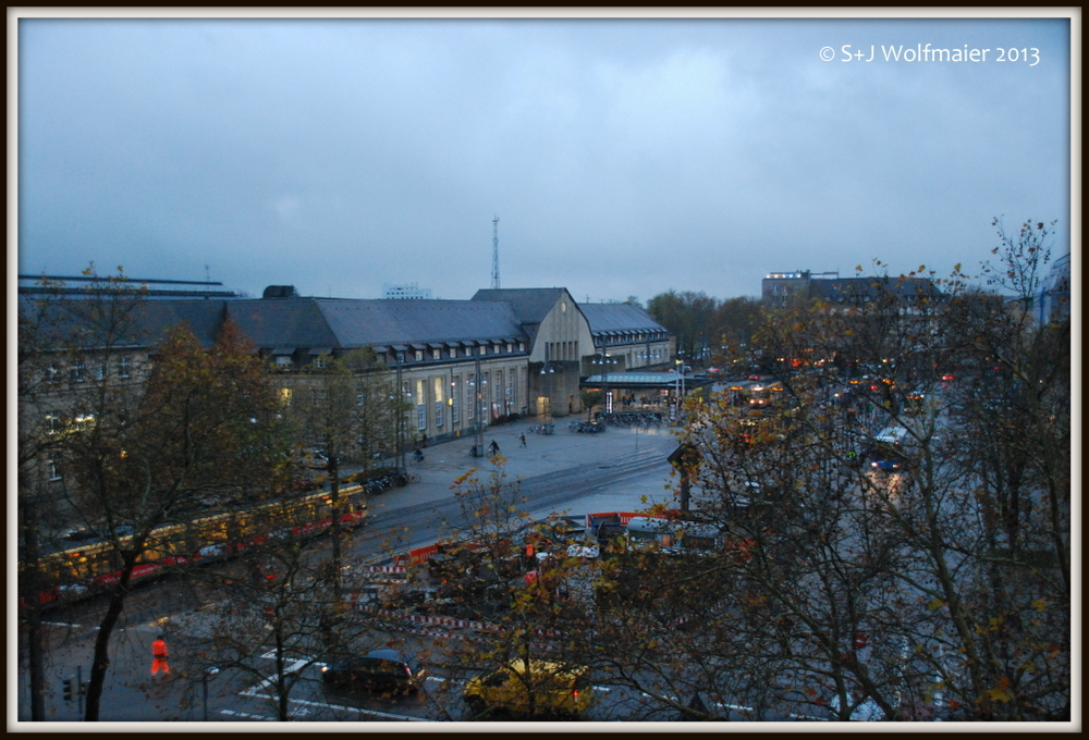 The view from Johannes hotel room in Karlsruhe.