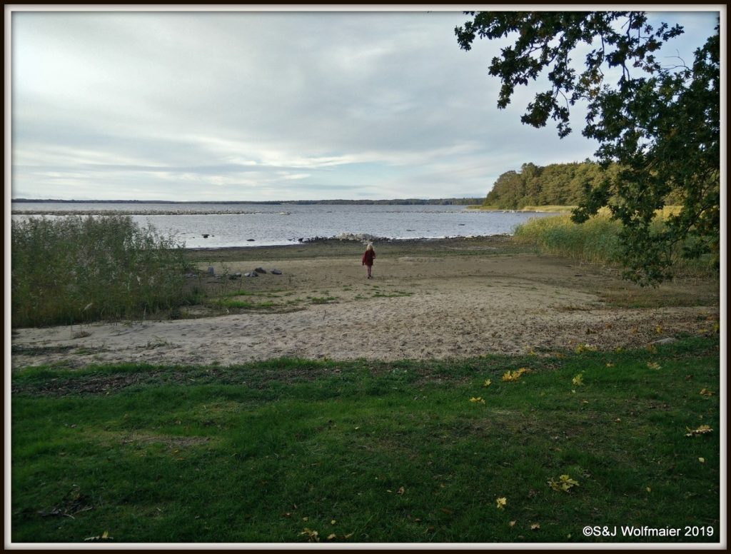 Ringsjön with a beach